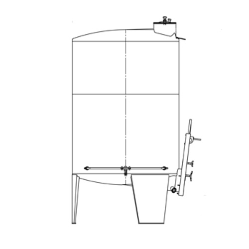Speidel 3,300L/1600 mm Diameter FD-DFTS Sealed Red Wine Fermenter w/ Pulse-Air System and Gate-Style Manway