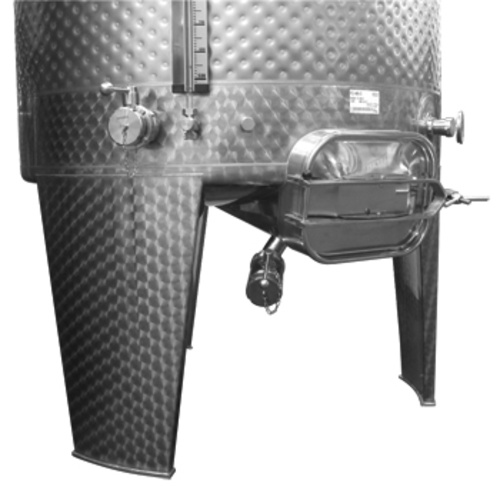 Rectangular Fermentation Manway with 2''TC Outlet. Tank Styles FO,FS-MO with Diameter 1000mm, 420mmWx310mmH