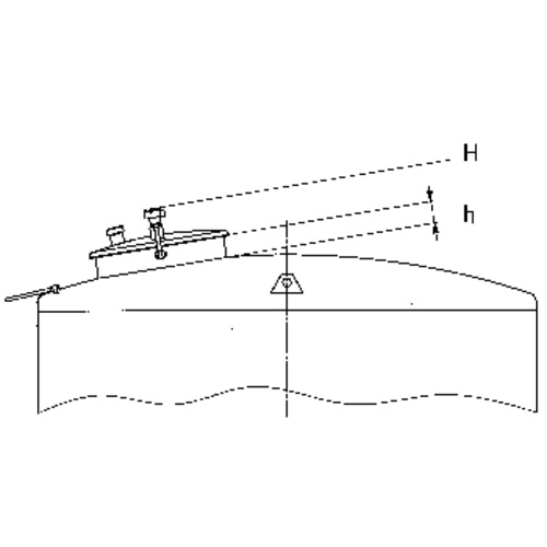 Top Hatch for Sealed Tanks: 600mm Diameter, Forward Set w/ Sloped Position, 100 mm Neck Height