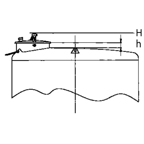 Top Hatch for Sealed Tanks: 200mm Diameter, Forward Set w/ Plumb Position, 150 mm Neck Height