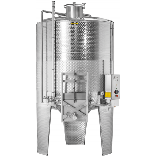 Speidel 10,000L/2000 mm Diameter FD-ITAK Sealed Red Wine Fermenter w/ Interal Must Plunger, Standard Manway and Motorized Must Ejection