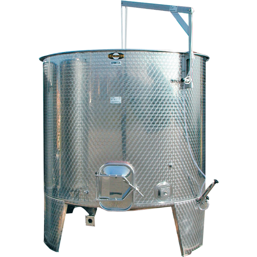 7600L Variable Volume/Conical Bottom Red Fermentation Tank w/ Manway