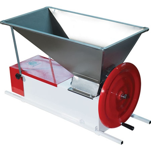 Italian Crusher Destemmer - Manual, Partially Stainless (w/ Stainless Stand & Chute)