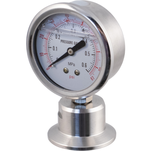 Stainless - 1.5 in. T.C. Pressure Gauge (0-87 psi)